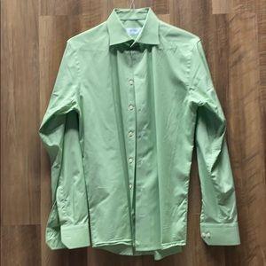 ETON - Green Small Checkered Dress Shirt